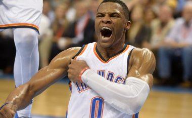 Kjo nuk ka ndodhur asnjëherë në histori të NBA-s, Westbrook arrin edhe një rekord (Video)