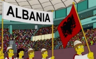 """Ngrihet flamuri shqiptar edhe në serialin amerikan """"The Simpsons"""""""