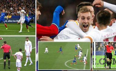 Përsëritja e videos nga gjyqtari bëri që dy gola të vendosen në mënyrë të rregullt në ndeshjen Francë-Spanjë (Video)
