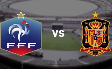 Dueli i gjigantëve, formacionet startuese në ndeshjen Francë-Spanjë
