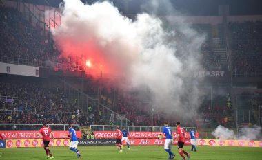 """""""Plisat"""" ndërprenë ndeshjen Itali-Shqipëri, shkak revolta ndaj Armando Dukës (Foto/Video)"""