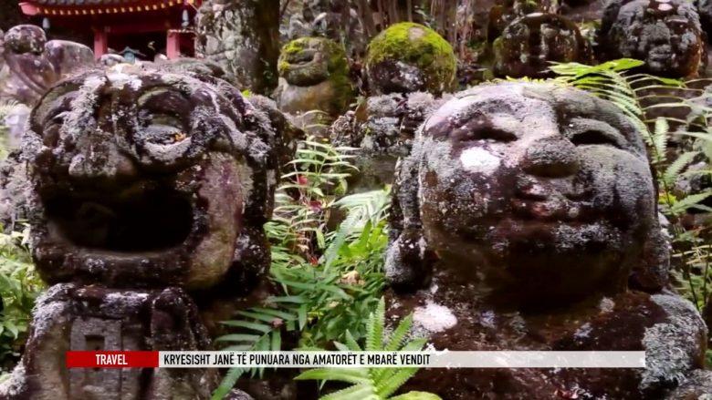 Skulpturat e lumtura të një tempulli në Kioto (Video)