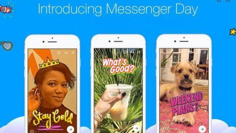 Facebook lanson edhe Messenger Day