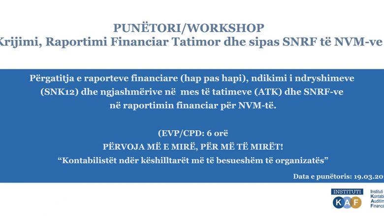 IKAF organizon punëtori për 'Raportim Financiar' në Kosovë