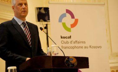 Thaçi: Klubi i Biznesit Frankofon do t'i rrisë shkëmbimet tregtare me vendet anëtare
