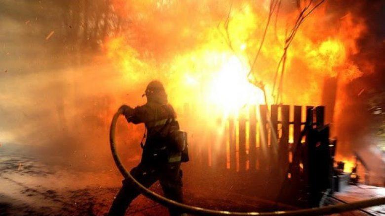 Përfshihet nga zjarri, një shtëpi në Volljakë të Klinës