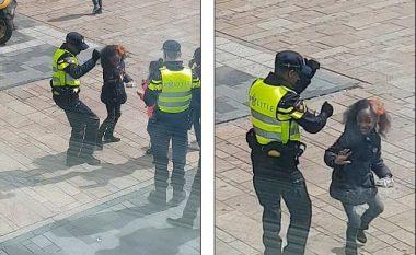 Ky polic ka ngatërruar profesionin, mëson vajzën si të vallëzoj në qendër të qytetit (Video)