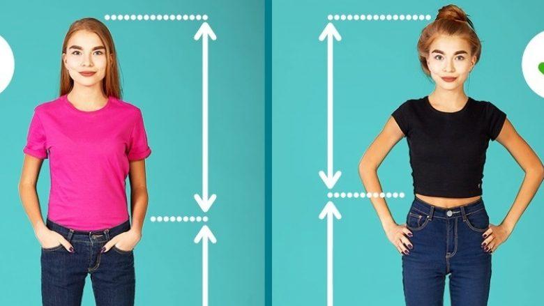 Këshilla për vajzat e 'imëta': Si të dukeni më e gjatë dhe më e hollë
