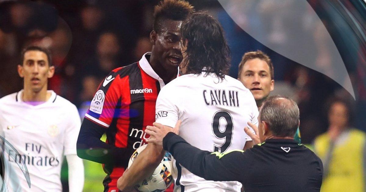Tipike nga Balotelli  provokon Cavanin dhe pastaj dhuron spektakël me topin në fushë