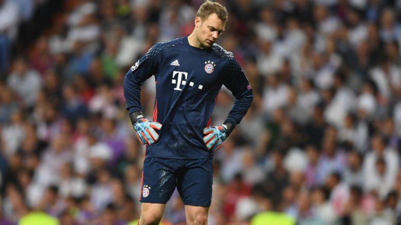 Neuer i pikëlluar që nuk do të mund të luajë në pjesën e mbetur të sezonit