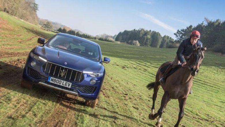 Maserati Levante, në garë me një kalë (Video)