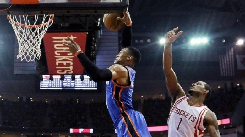 As 51 pikët e Westbrookut nuk e ndihmuan Oklahoman, triumfon Houston (Video)