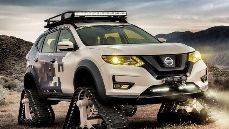 Nissan Rogue me shirita lëvizëse në vend të rrotave (Foto)