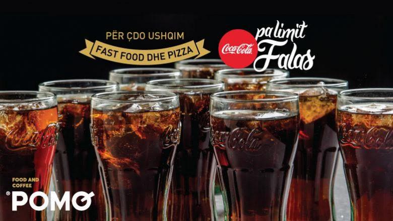 Pini coca cola sa t'mundeni falas nga rrjeti më i madh i restoraneve në Kosovë – Pomo