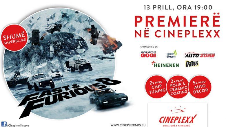 Cineplexx sjellë premierën e Fast and Furious 8 me shumë shpërblime!