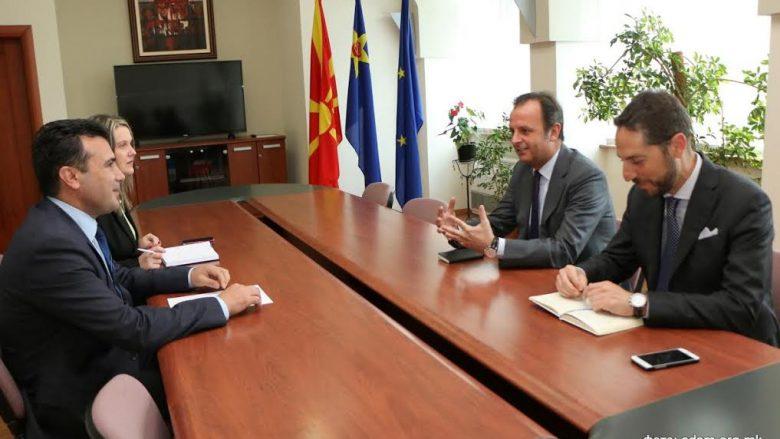 Zaev-Romeo: Të ç'bllokohen proceset demokratike në Maqedoni