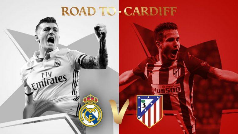 Real Madrid-Atletico Madrid, ndeshja e dhjetë ku takohen dy skuadra nga i njëjti shtet në gjysmëfinale të LK