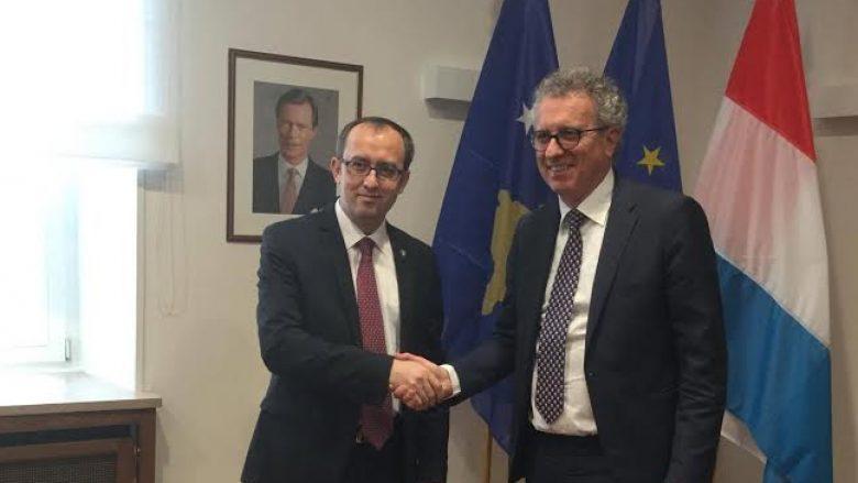 Hoti kërkoi ndihmë nga Luksemburgu për përgatitjen e legjislacionit për tregun e kapitalit