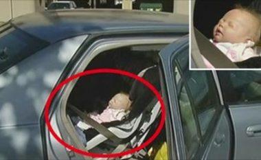 """Polici theu xhamin dhe u mundua të shpëtojë """"foshnjen"""" e mbyllur në veturë, por u përlot nga historia e nënës"""