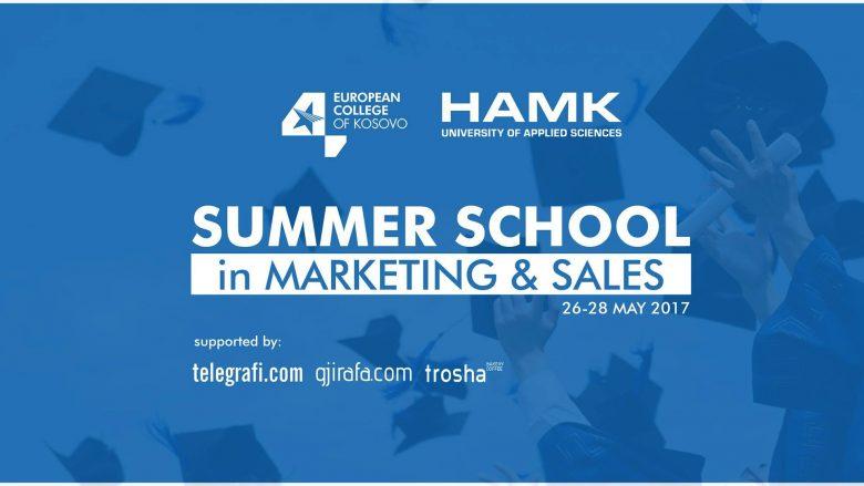 HAMK University nga Finlanda dhe European College of Kosovo sjellin shkollën verore për Marketing & Shitje nga data 26-28 Maj 2017