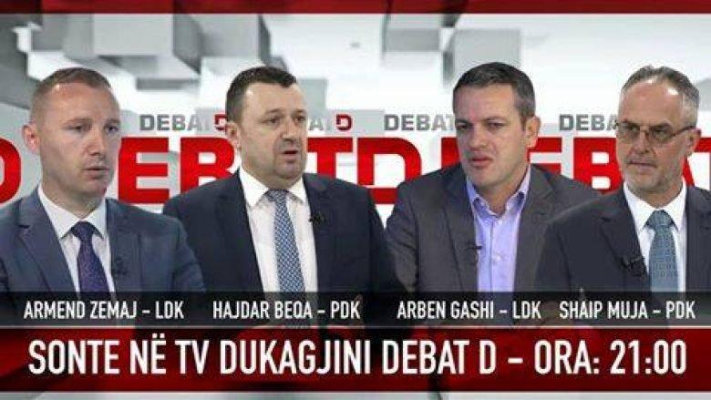 """LIVE NË """"DEBAT D"""": PDK-LDK, Armend Zemaj-Arben Gashi vs Shaip Muja-Hajdar Beqa (Video)"""