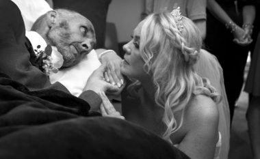 Dhëndrri me gjendje të rëndë shëndetësore martohet në dhomën e spitalit (Foto)