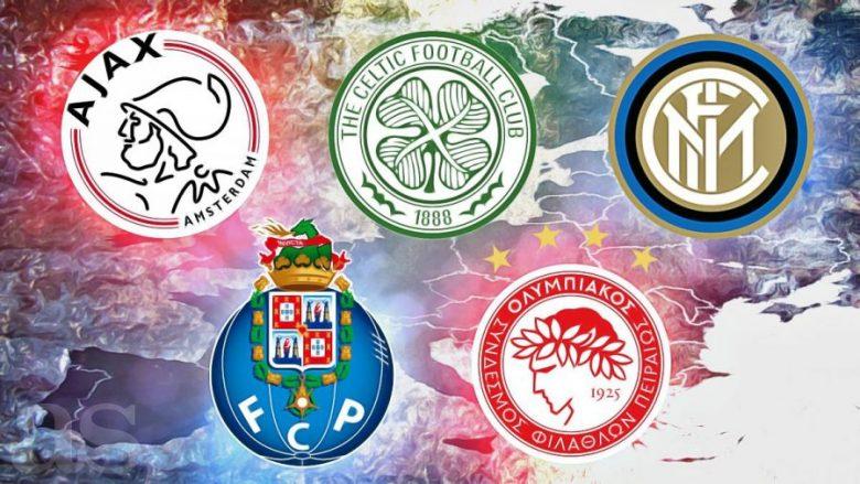 Këto janë 20 skuadrat që nuk kanë luajtur asnjëherë në një kategori më poshtë se elita (Foto)
