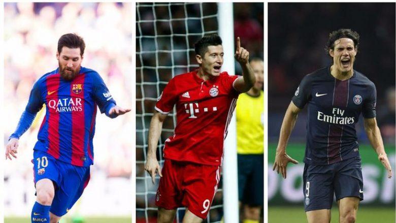 Lojtarët që kanë shënuar më shumë gola gjatë vitit 2017 në pesë ligat më të forta në Evropë (Foto)
