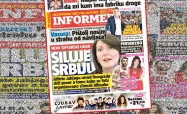 """Mediat serbe: Sulm i ri i shqiptarëve, Jahjaga """"përdhunon"""" Serbinë në mes të Beogradit (Foto)"""