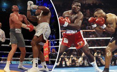Dy kampionë, një pyetje: Kush e ka goditjen më të fortë, Frank Bruno apo Anthony Joshua? (Video)