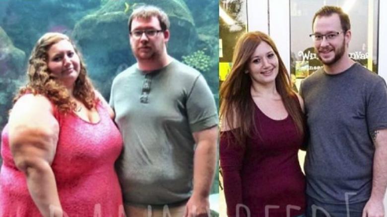 Historia inspiruese e çiftit që humbën 160 kilogramë duke ushtruar së bashku (Foto)