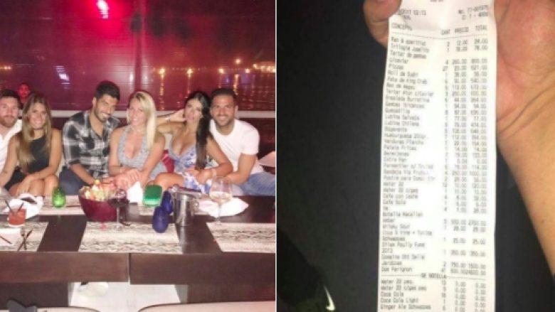 Publikohet shuma marramendëse e faturës që Messi pagoi gjatë një darke në Ibiza – 27 pica, 41 shishe Dom Perignon, por edhe hamburger 112 euro (Foto)