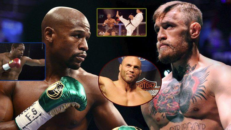 Fansat mezi presin meçin ndërmjet Mayweather dhe McGregor, por cilët ishin duelet më të mëdha të boksit dhe MMA në të kaluarën (Foto)