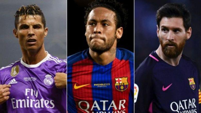 Sa miliona euro nuk i deklaruan Ronaldo, Messi dhe Neymar?