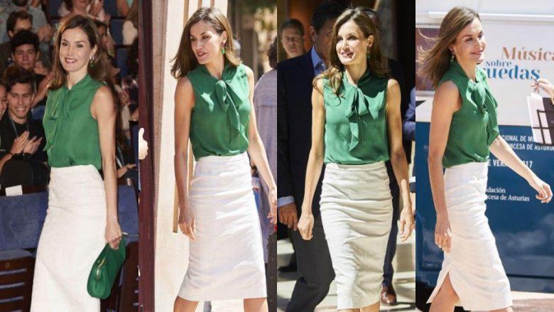Mbretëresha Letizia sërish ka qenë brilante me veshjen çfarë e kishte veshur edhe para katër vjetësh