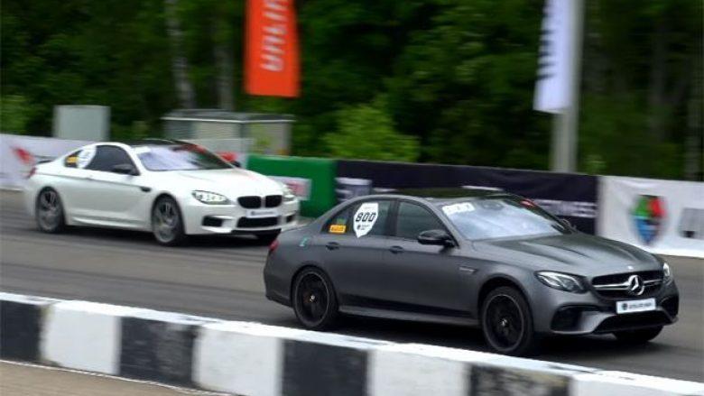 Mercedes-AMG E63 S mund në garë modelet BMW M6 dhe Audi RS7 me nga 750 kuajfuqi (Video)