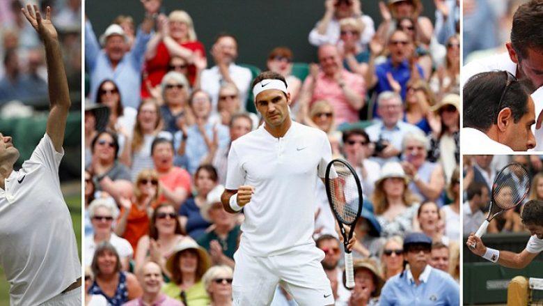 Federer, 'mbret' në Wimbledon për herë të tetë në karrierë (Foto)