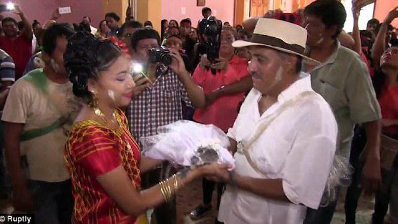 E padëgjuar! Kryebashkiaku në Meksikë martohet me krokodil (Foto/Video)