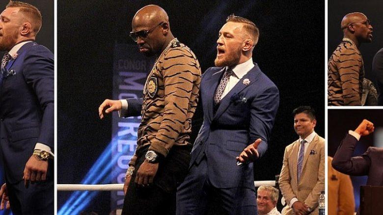 Takimi i katërt në Londër- Mayweather zbulon orën me diamante në vlerë 1.4 milion dollarë, McGregor e akuzon për mbathje të takave (Foto)