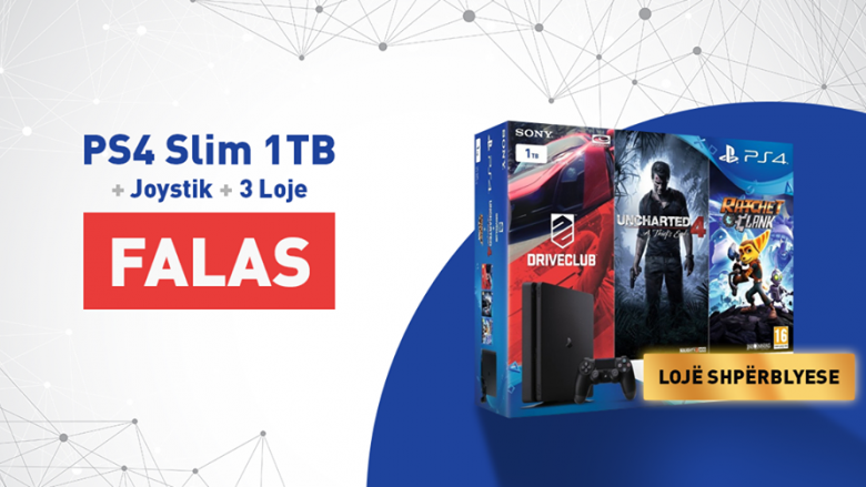 A dëshironi të fitoni falas: PS4 + Joystick + Lojë?