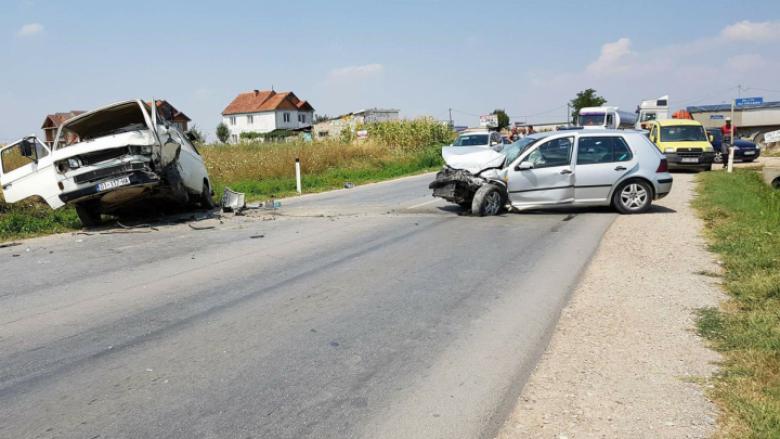 Aksident i rëndë në afërsi të Ferizajt (Foto)
