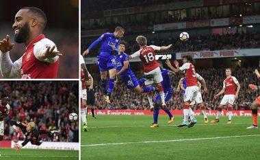 Liga Premier fillon me spektakël dhe shtatë gola, Arsenali triumfon ndaj Leicesterit (Foto/Video)
