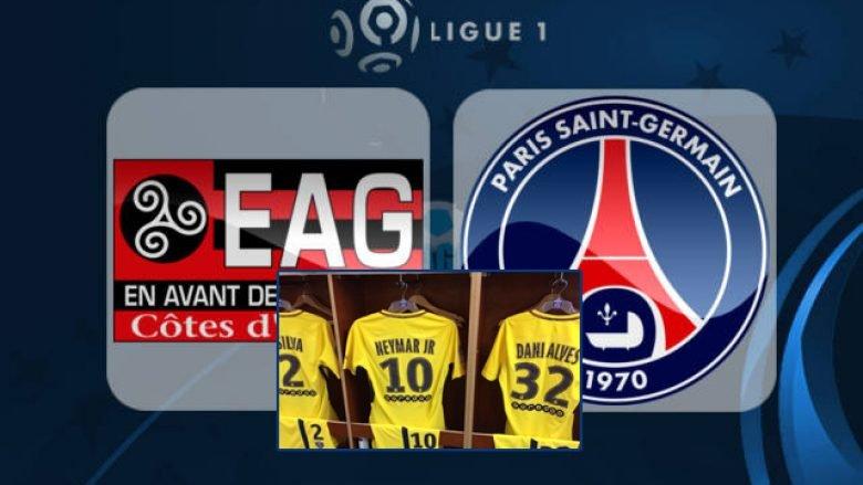 Formacionet Guingamp – PSG: Të gjithë e presin debutimin e Neymar