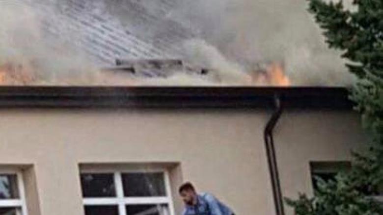 """Zjarr në """"Bair"""" të Mitrovicës (Video)"""