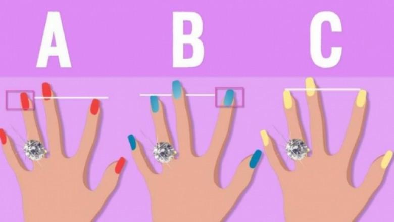 Çfarë thotë gjatësia e gishtit të unazës te femrat
