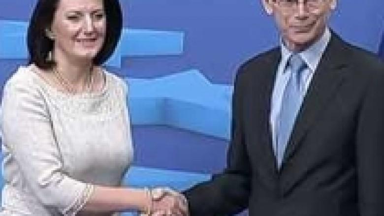 Jahjaga fillimisht do të takojë Van Rompuy