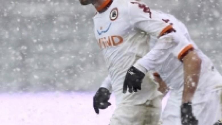 Roma fiton në borën e Atalantas