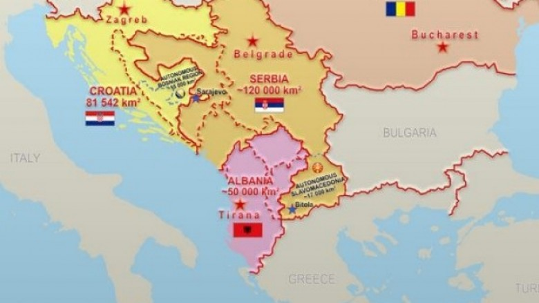 Image result for harta e shqiperise etnike