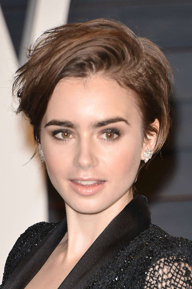 -Los Angeles, CA - 2/22/2015 - 2015 Vanity Fair Oscar Party - Arrivals at Wallis Annenberg Center for the Performing Arts -PICTURED: Lily Collins -, Image: 219839470, License: Rights-managed, Restrictions: , Model Release: no, Credit line: Profimedia, Startraks