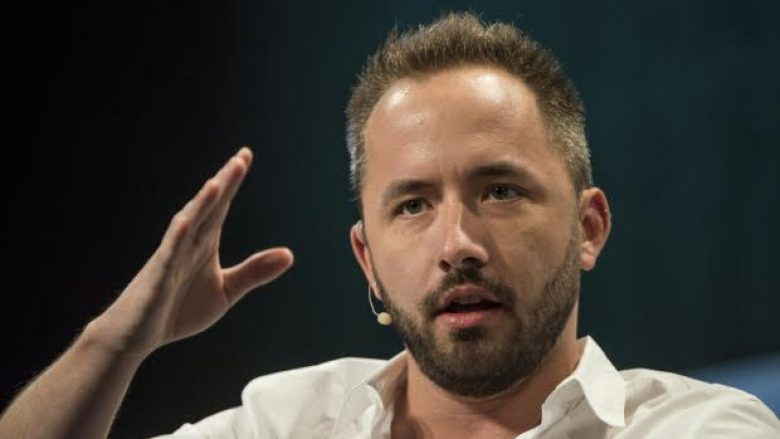 Drew Houston, chief executive officer and co-founder of Dropbox Inc., speaks at the TechCrunch Disrupt SF 2015 conference in San Francisco, California, U.S., on Monday, Sept. 21, 2015. TechCrunch Disrupt gathers the best and brightest entrepreneurs, investors, and hackers to discuss what's top of mind for the tech industry's key innovators. Photographer: David Paul Morris/Bloomberg via Getty Images
